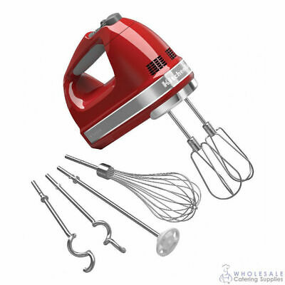 KitchenAid Hand Mixer KHM926 Empire Red Electric Mixing Whisking Beater Dough