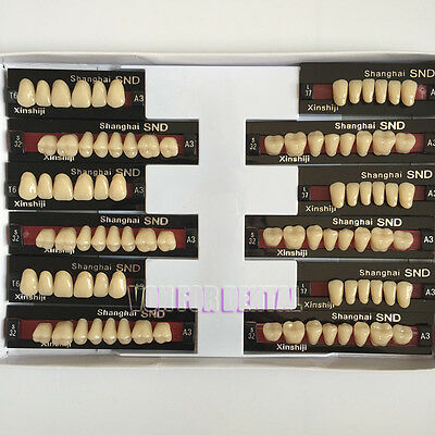 3Set Dental Acrylic Resin Teeth three-Layer A3 Shade Full Mouth T6 L37 S32 Best