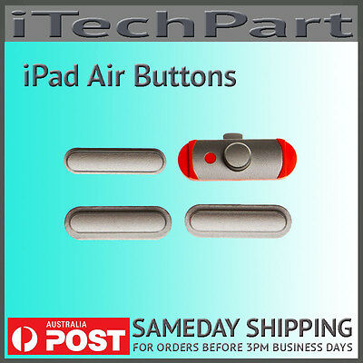SILVER Power/Volume/Mute Button Set Replacement For iPad Air