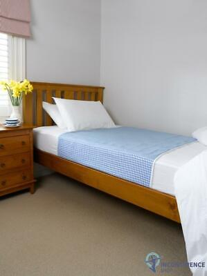 Brolly Sheets Double Bed Pad With Wings Blue