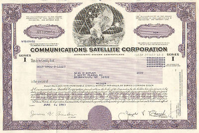Communicatioins Satellite > 1983 Chicago Illinois old stock certificate share
