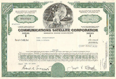 Communicatioins Satellite   1978 Chicago Illinois old stock certificate share