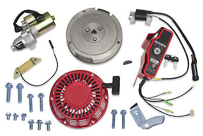 Electric Starter Motor Kit Honda GX340 GX390 Flywheel Coil Ignition Box Recoil