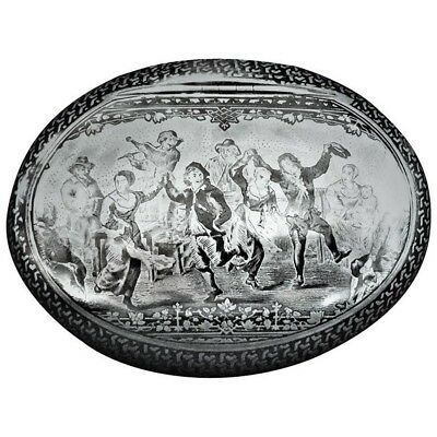 Early 19th Century Dutch Silver Niello Snuff Box (ca. 1825)
