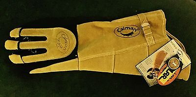"Caiman 1878 21"" Padded Arm Deerskin Welding Glove W/ Heat Shield, Left Hand Only"