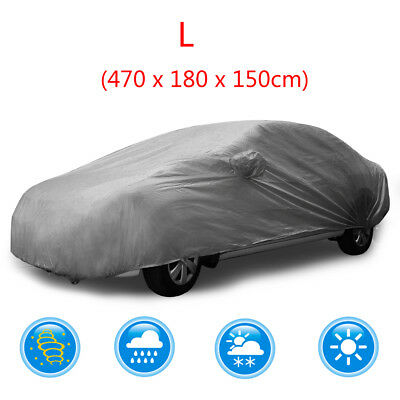 Full Car Cover Indoor Outdoor Waterproof Sun Dust Proof Breathable Layers Truck