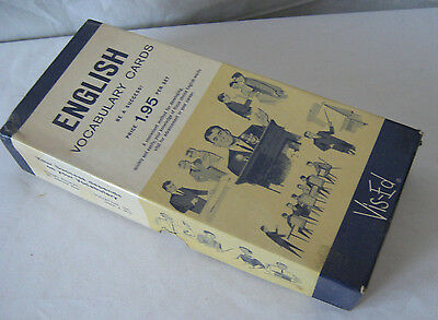VTG 60s VIS-ED 1K ENGLISH WORD VOCABULARY CARDS SELF-HELP SUCCESS  SPELLING BEE
