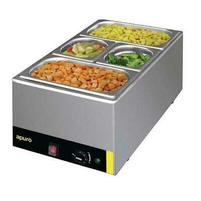 Bain Marie Food Warmer w/ GN Pans Benchtop, 1/1 Size Commercial Apuro