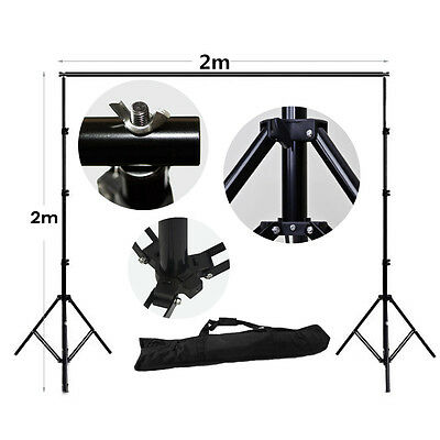 Photography 2m x 2m Studio Backdrop Background Support Stand Kit