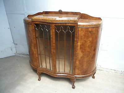 A Most Wonderful Large Glazed Serpentine 1930s Display Cabinet