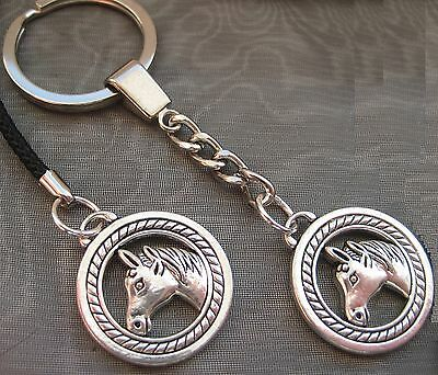 PICK YOUR CHARM Mobile Phone Lanyard Keyring Keychain Silver Horse Charm