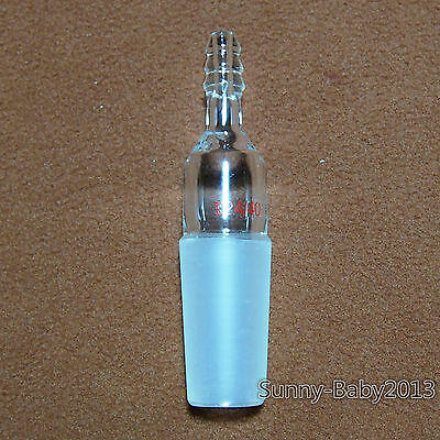 24/40,Glass Tube Cone To Rubber Hose,Straight Tube,Lab Inlet Adapter