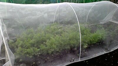 Carrot-fly Insect Mesh Fine, mesh size 0.7mm 2.5m x 10m  (8ft 2' x 32ft 8')