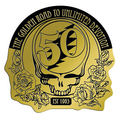 "(#31) Metallic Grateful Dead 50th Anniversary 2"" Decal (1166) Sticker"