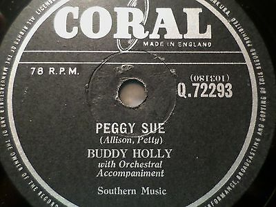 "BUDDY HOLLY ""Peggy Sue / Everyday"" Coral 78rpm 10"" rare shellac record"
