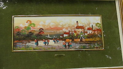 Vintage Dutch Original Oil On Board Painting Landscape,Signed By Wanny
