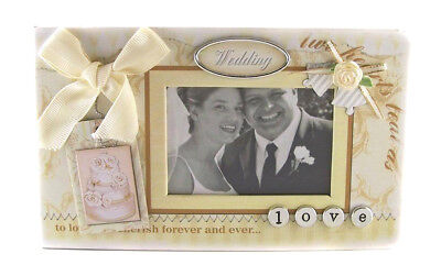 Embellished Cover  ~ WEDDING ~  Scrapbook Photo Album With Pages