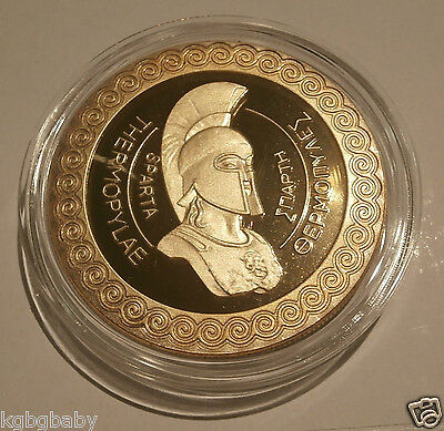 Greek Leonidas  Spartan King-GOLD Plated collectable-Limited edition- C.O.A.incl