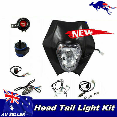 Rec Reg Head Tail Light kit For Atomik 110 125 140 250 cc Dirt Pit Bike BLK