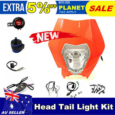 Rec Reg Head Tail Light kit For Atomik 110 125 140 250 cc Dirt Pit Bike ORG