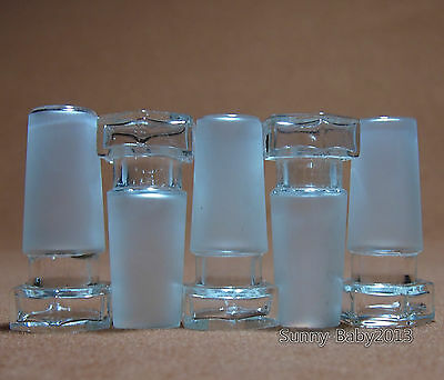 24/40,Hollow Glass Stopper,Hexagonal Plug,Lab Chemistry Glassware,5 Pcs/Pack