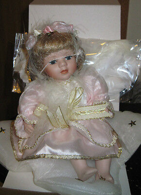 Nib Cherish Angel Porcelain Doll By Geppeddo