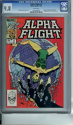 Alpha Flight #4 Cgc 9.8 White Pages !!!!!!!!!!!!!!