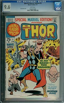 Special Marvel Edition #2 Cgc 9.6 White Pages Thor