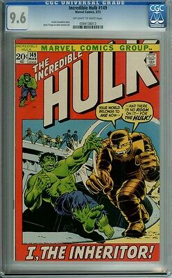 INCREDIBLE HULK #149 CGC 9.6 OWW PAGES TRIMPE SEVERIN art