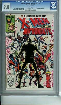 X-MEN and the MICRONAUTS #1 CGC 9.8 WHITE PAGES NEW MUTANTS