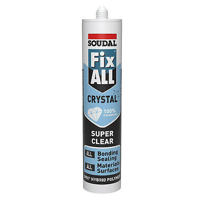 Soudal Fix All Crystal Clear Transparent Strong Adhesive Polymer Sealant Glue