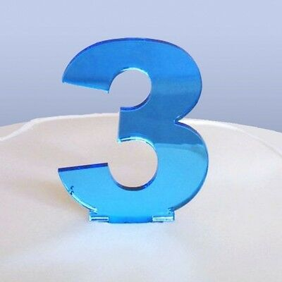 Contemporary Number 3 Cake Topper