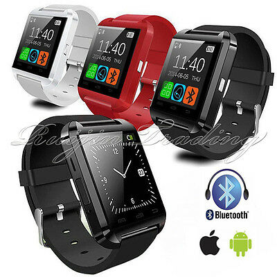 BLUETOOTH  SMART WATCH PEDOMETER PHONE BLACK for IOS Android Samsung Iphone