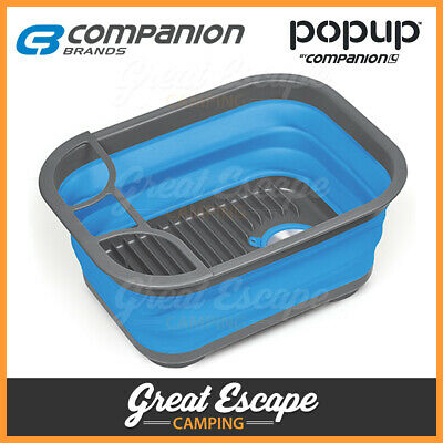 1 x Companion Pop Up 15L Dish Tray Ideal Camping Caravan Picnic and Beach Trips