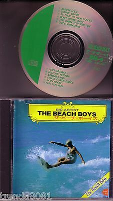 BEACH BOYS Big Artists CD Classic 60s Rock JAPAN Greatest Hits  ULTRA RARE OOP
