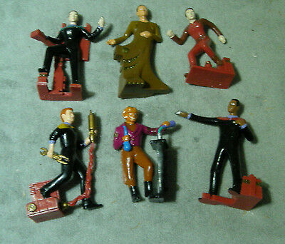 Star Trek Deep Space 9 Set of Six PVC Figures Loose Very Good Condition DS9