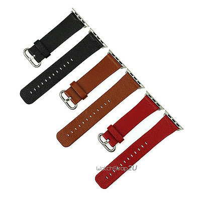 Lizard Grain Genuine Leather Watch Band Strap For Apple Watch iWatch 38 42 mm