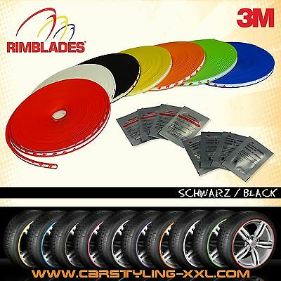 NEW - Rimblades with 3M glue - colour: black - Premium rim protection and stylin