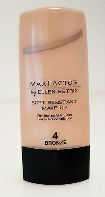 Max Factor Ellen Betrix Make Up Foundation Liquid Soft Resistant 4 Bronze Neu