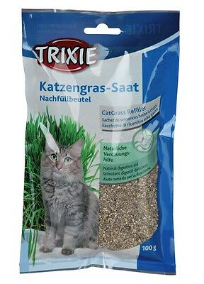 Trixie Cat Kitten Grass Refill Pouch Grain Seed,grow At Home Digestive Aid4233