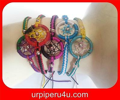 Wholesale Lot Of 10 Dream Catcher Friendship Bracelets Mix Colors Handmade At01
