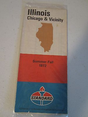 1972 Illinois Chicago & Vicinity road map Standard Oil Company