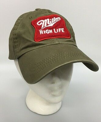 Miller High Lift Champagne of Beers Embroidered Hat Brown Red Vision Baseball