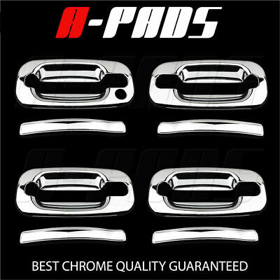 For Chevy Silverado 1999-06 4 door Handle w//o Pskh+Full Mirror 2Pc Chrome Covers