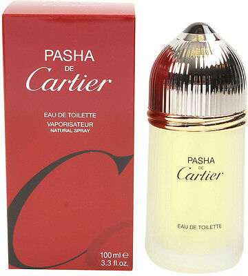 PASHA DE CARTIER by Cartier 3.3 OZ /100 ML EDT Cologne for Men NEW IN SEALED BOX