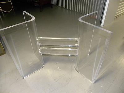 Fabulous Mid Century 70's Mod Multi Slab Thick Lucite Dining Table Base