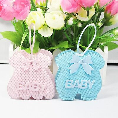 "24x Cute ""Baby Dress"" Bomboniere Bag Baby Shower Favour Box Birthday"
