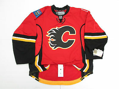 Calgary Flames Authentic Red Home Nhl Reebok Edge 2.0 7287 Hockey Jersey