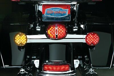 Kuryakyn Deluxe Panacea Taillight Lens with Tag Light Window Red,  5420
