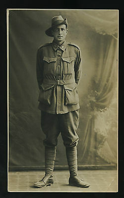 Ww1 Rp Npu Postcard Aif Soldier From Victoria T99
